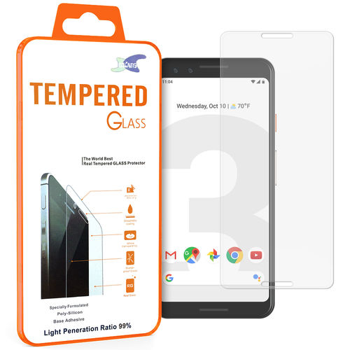 Full Coverage Tempered Glass Screen Protector - Google Pixel 3 - Clear